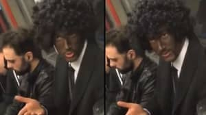Tube Passenger Sparks Outrage After Painting His Face Black For Halloween Costume