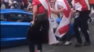 England Fans Chant 'Shove That Lamborghini Up Your A**e' At Driver