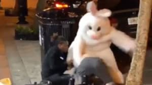 Video Shows Person Dressed As The Easter Bunny In A Brawl