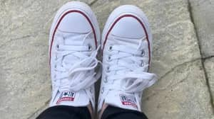 Woman Shares Cleaning Tip To Fix Battered And Dirty Converse Shoes