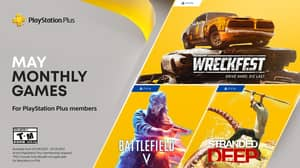 PlayStation Plus May 2021 Free Games Announced As Battlefield V, Stranded Deep and Wreckfest