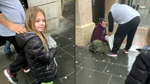 Six-Year-Old Girl Hands Out Food To People Sleeping Rough On Christmas Day