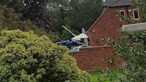Helicopter Flipped Onto Its Side During Garden Take-Off