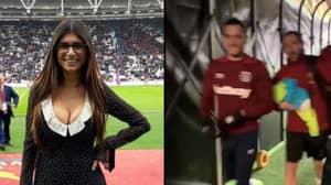Mia Khalifa Walked Past Lucas Perez At West Ham Game - His Reaction Was Brilliant