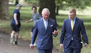 Joggers Shocked To See Prince Charles Strolling Through Their Park
