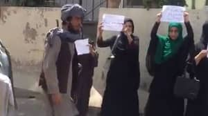 Four Women Bravely Protest Taliban Takeover Of Afghanistan