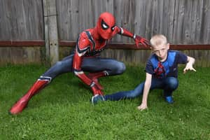 Single Dad Dresses As Spider-Man To Calm Autistic Son