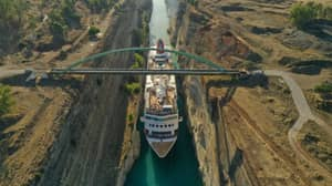 Cruise Ship Becomes Largest Ever Vessel To Pass Through Greece's Corinth Canal