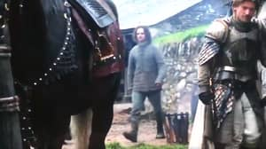 Game Of Thrones Season One Extra Spotted Wearing Modern Looking Clothes