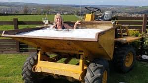 Bloke Transforms Dumper Truck Into Hot Tub After Partner Bemoans Lack Of Bath