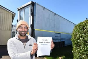 Dad Lad Spends £10,000 Transforming M&S Lorry Into 2 Bedroom House