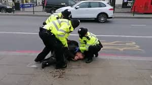 Anti-Lockdown Protester Screams As He Is Arrest By Police In London