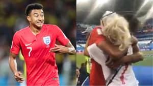 Jesse Lingard's Mum Surprises Him After Victory Against Sweden