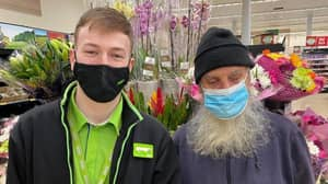 Shoppers Applaud Worker's Kind-Hearted Actions For Elderly Blind Customer