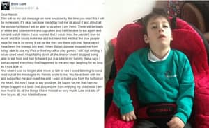 7-Year-Old Boy Leaves Heartbreaking Letter For Friends Before Death