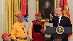 Trump Makes 'Pocahontas' Jibe While Honoring Native American Code Talkers