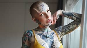 Tattooed Model Gets 3D Silicone Forehead Implants Under Her Skin
