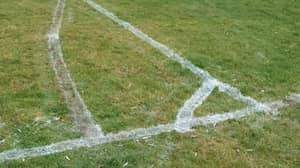 Contractor's Wonky Football Pitch Lines Go Viral As Council Responds 'Everyone Has To Start Somewhere'