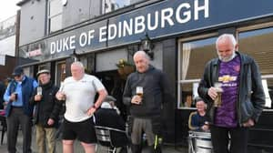 Punters At Duke Of Edinburgh Pub Pay Tribute To Prince Philip Ahead Of Funeral