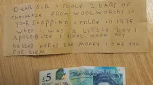Shoplifter Apologises For Nicking Chocolate Bars Over 40 Years Ago