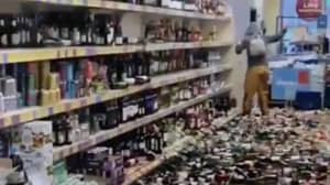 Shopper Smashes Up Hundreds Of Alcohol Bottles In Aldi Causing Chaos