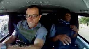Cash-In-Transit Van Comes Under Fire As Bullets Spray Window In Terrifying Footage