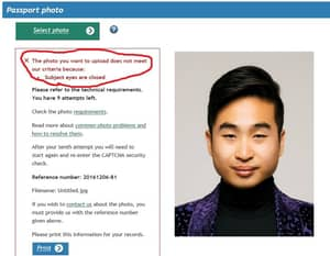 Lad's Passport Photo Rejected After Computer Thought His Eyes Were Closed