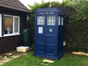 Lad Builds Incredible TARDIS Toilet In His Garden And It Even Tweets