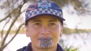 Proud Māori Cop Becomes First Queensland Officer To Have Traditional Chin Tattoo