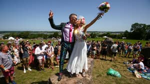 Couple Married At Glastonbury After Beating Odds To Get Tickets For Guests