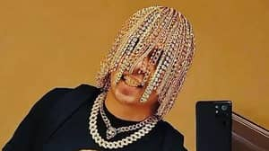 Rapper Dan Sur Has Gold Chains For Hair Hanging From Hooks 'Surgically Implanted' Into His Head