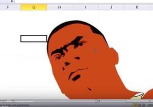 Some Genius Drew Franklin From 'GTA V' In Microsoft Excel