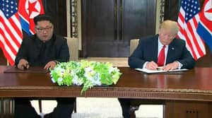 North Korean Denuclearisation Process To Start 'Very Quickly' As Donald Trump And Kim Jong Un Sign Document