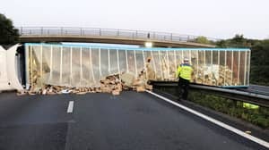 Hundreds Of Amazon Parcels Spill Over A27 After Lorry Crashes