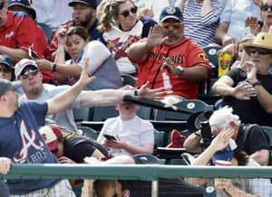 Guy Incredibly Catches A Baseball Bat Out The Air Before It Hits A Child In The Face