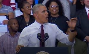 WATCH: Barack Obama Defends Trump Heckler At A Rally