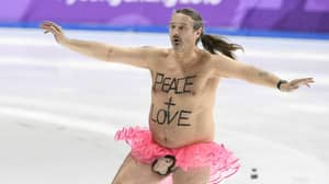 Olympics Invaded By Streaker Wearing Nothing But A Tutu and Monkey Penis Pouch