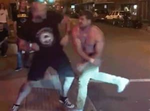 Guess What Happens When A Shirtless Drunk Attacks An MMA Fighter