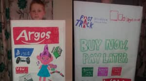 This Little Lad Went As The Argos Catalogue To World Book Day