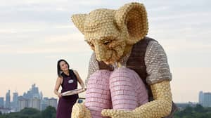 Huge Statue Of The BFG Made Of Cake Appears In London