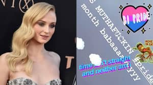 Sophie Turner Posts 'Time Isn't Straight And Neither Am I' For Pride Month
