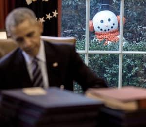 Barack Obama's Staff Played A Festive 'Prank' On Him