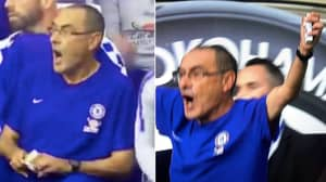 Maurizio Sarri Spotted Holding Pack Of Cigarettes Throughout Arsenal Game