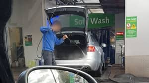 Bizarre Video Of Car Service Worker Jet Washing Inside Of Customer's Vehicle Goes Viral