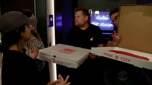 James Corden And Seth Rogen Deliver Pizzas And Mess With Strangers