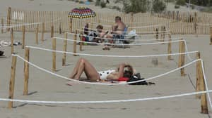 French Beach Introduces Social Distancing For Sunbathers