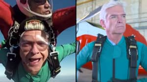 Phillip Schofield Skydives Into ITV Studios To Celebrate This Morning's 30th Birthday
