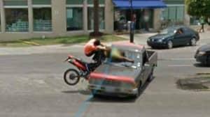 Google Maps Captures Brutal Crash Between Motorcycle And Truck