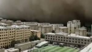 Entire City Is Engulfed As It's Swallowed By Wall Of Sand