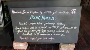 Cafe Owner Has Added A 'Man Tax' Of 18 Percent